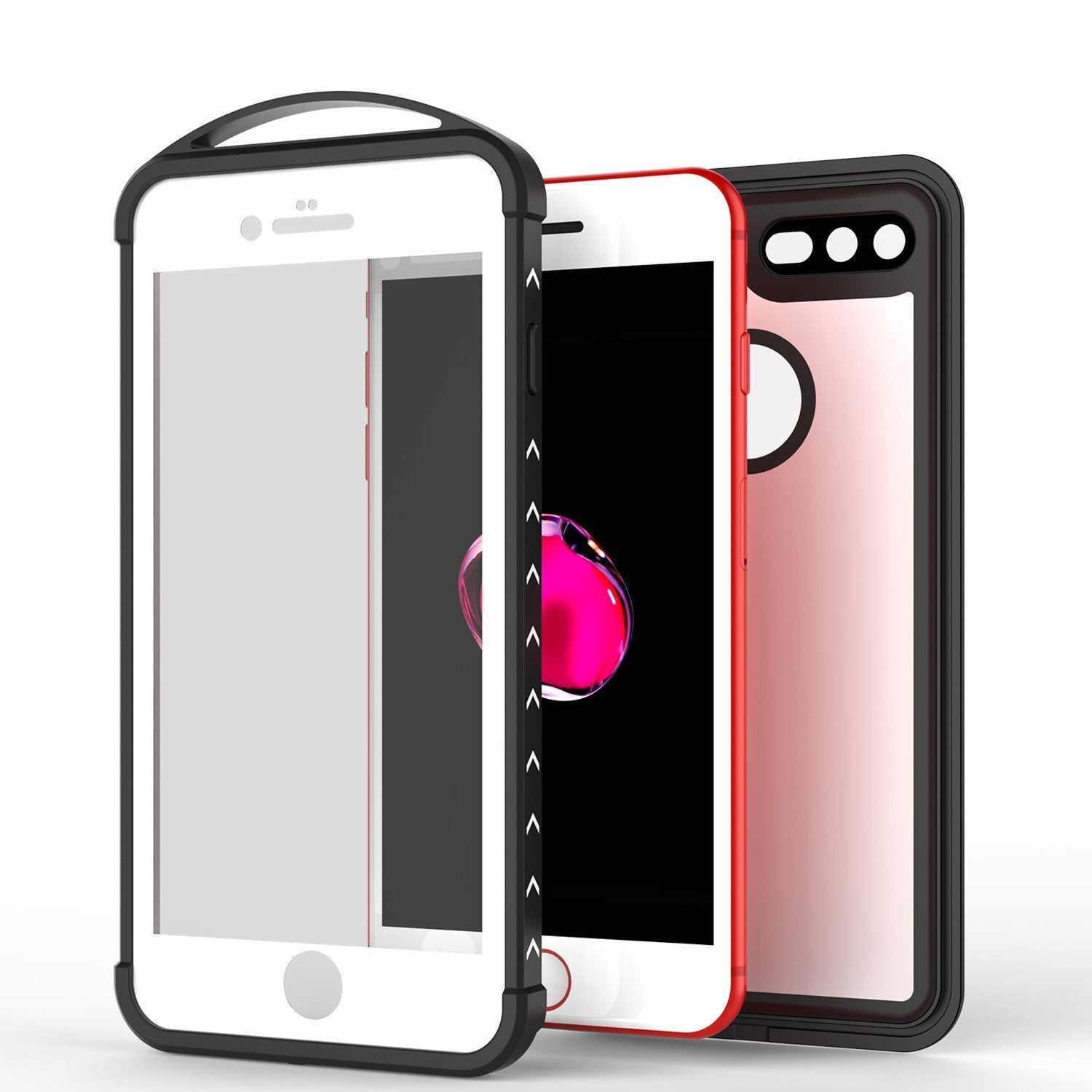iPhone 8+ Plus Waterproof Case, Punkcase ALPINE Series, White | Heavy Duty Armor Cover