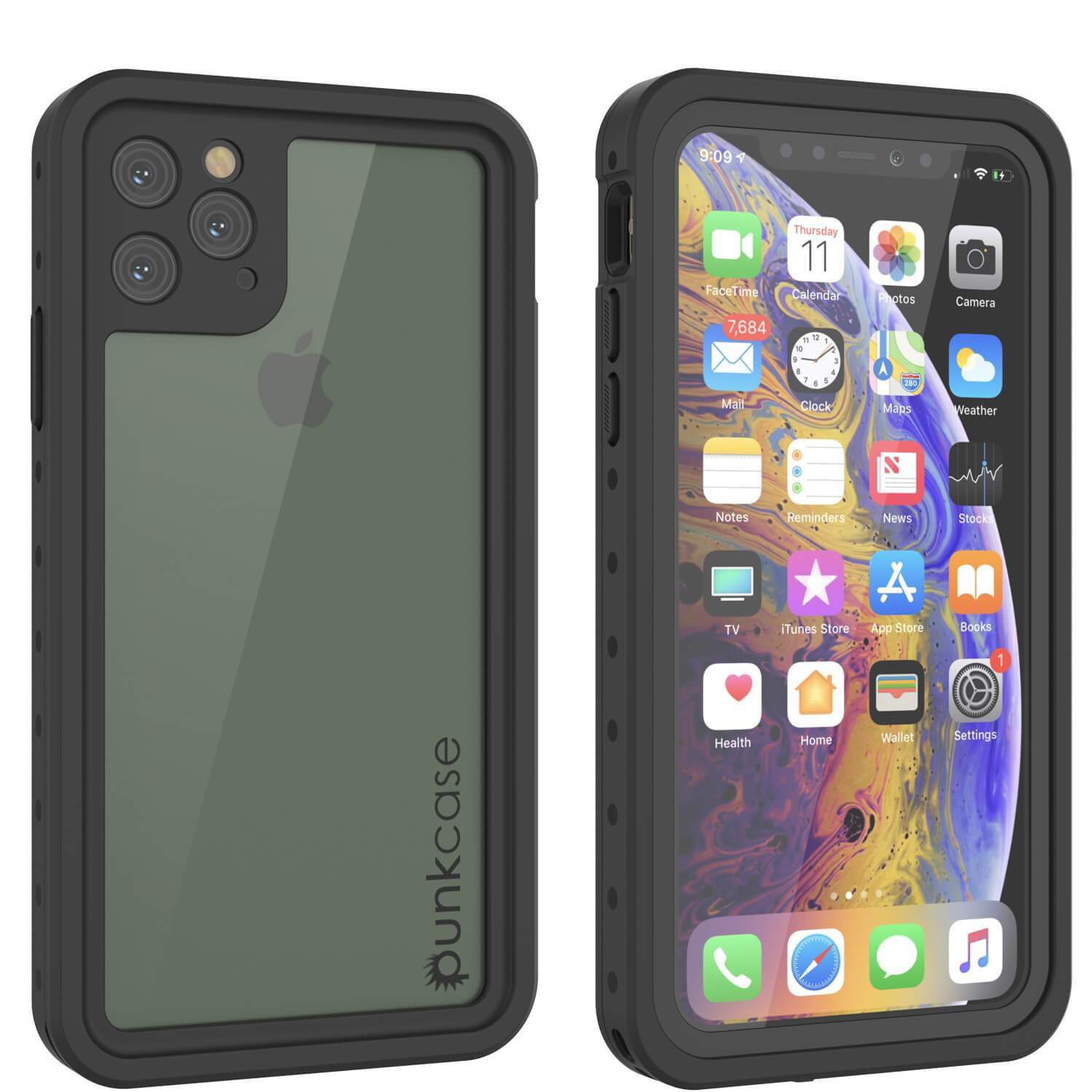 iPhone 11 Pro Waterproof IP68 Case, Punkcase [Clear] [StudStar Series] [Slim Fit] [Dirtproof]