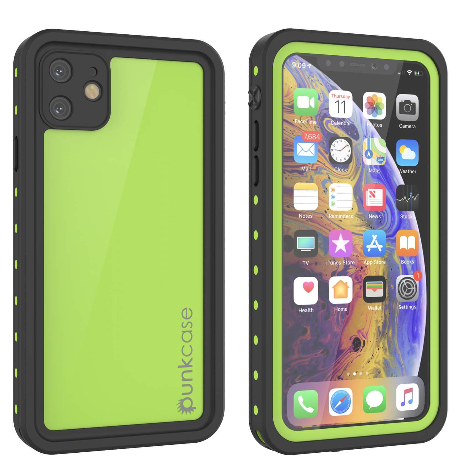 iPhone 11 Waterproof IP68 Case, Punkcase [Light green] [StudStar Series] [Slim Fit] [Dirtproof]