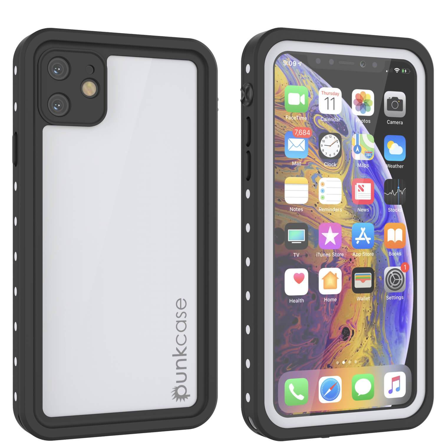 iPhone 11 Waterproof IP68 Case, Punkcase [White] [StudStar Series] [Slim Fit] [Dirtproof]