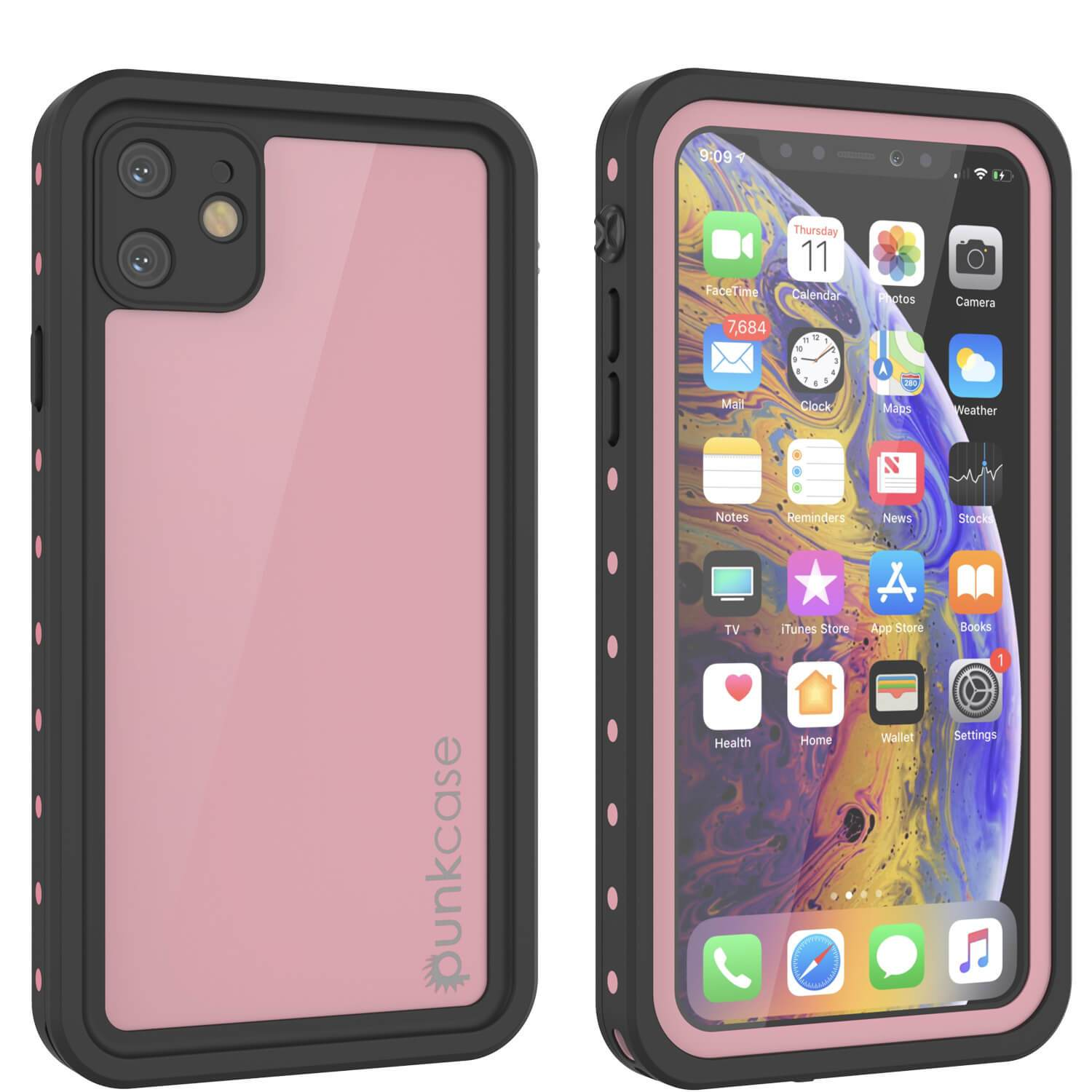 iPhone 11 Waterproof IP68 Case, Punkcase [Pink] [StudStar Series] [Slim Fit] [Dirtproof]