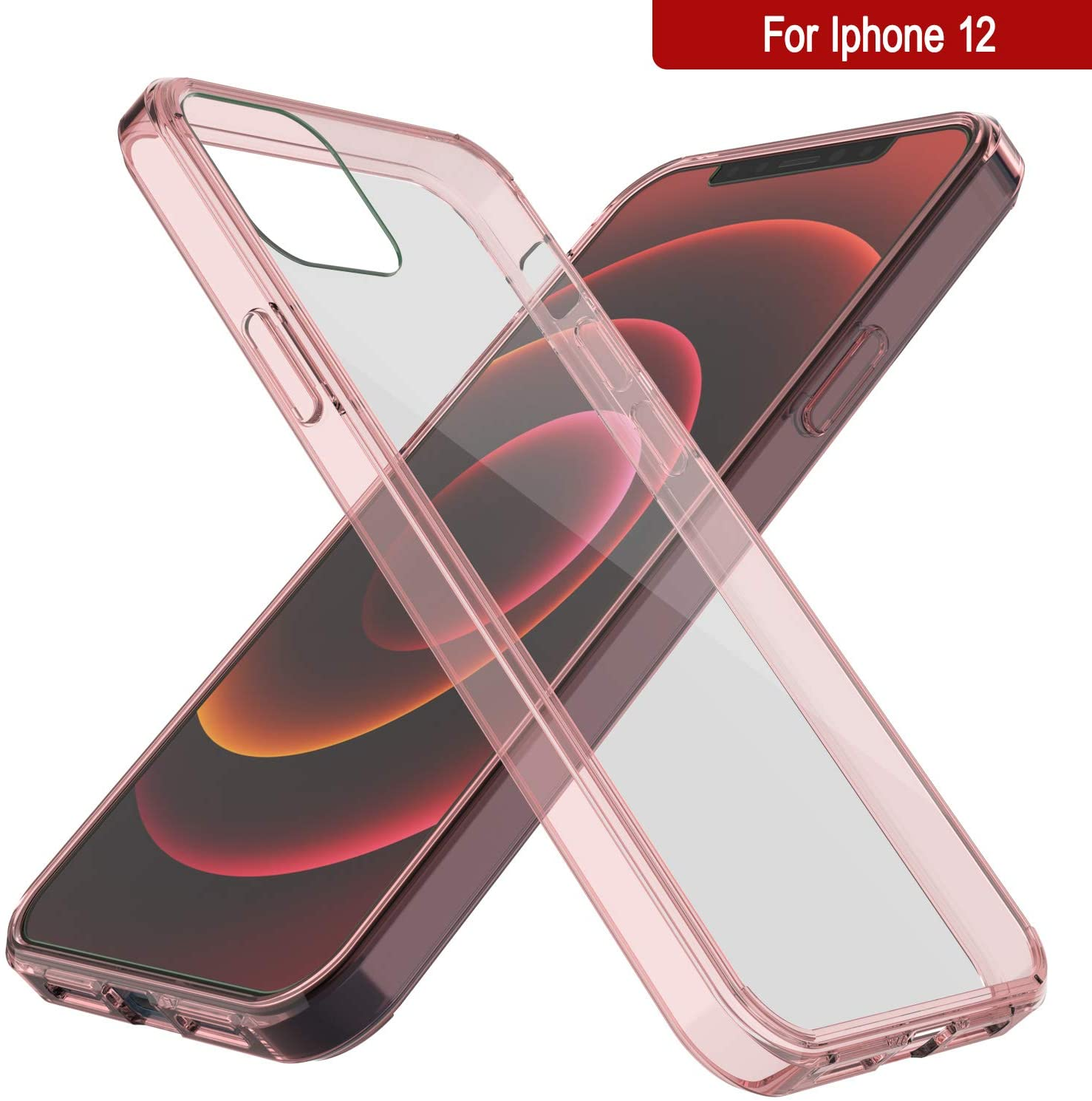 iPhone 12 Case Punkcase® LUCID 2.0 Crystal Pink Series w/ PUNK SHIELD Screen Protector | Ultra Fit