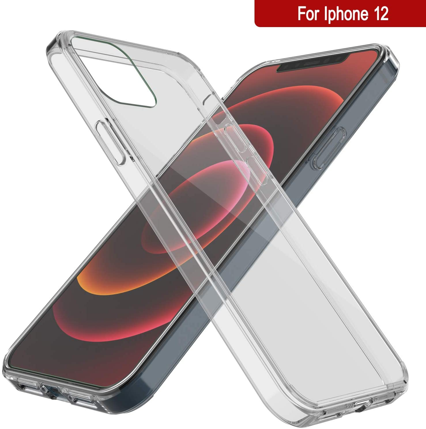 iPhone 12 Case Punkcase® LUCID 2.0 Clear Series Series w/ PUNK SHIELD Screen Protector | Ultra Fit
