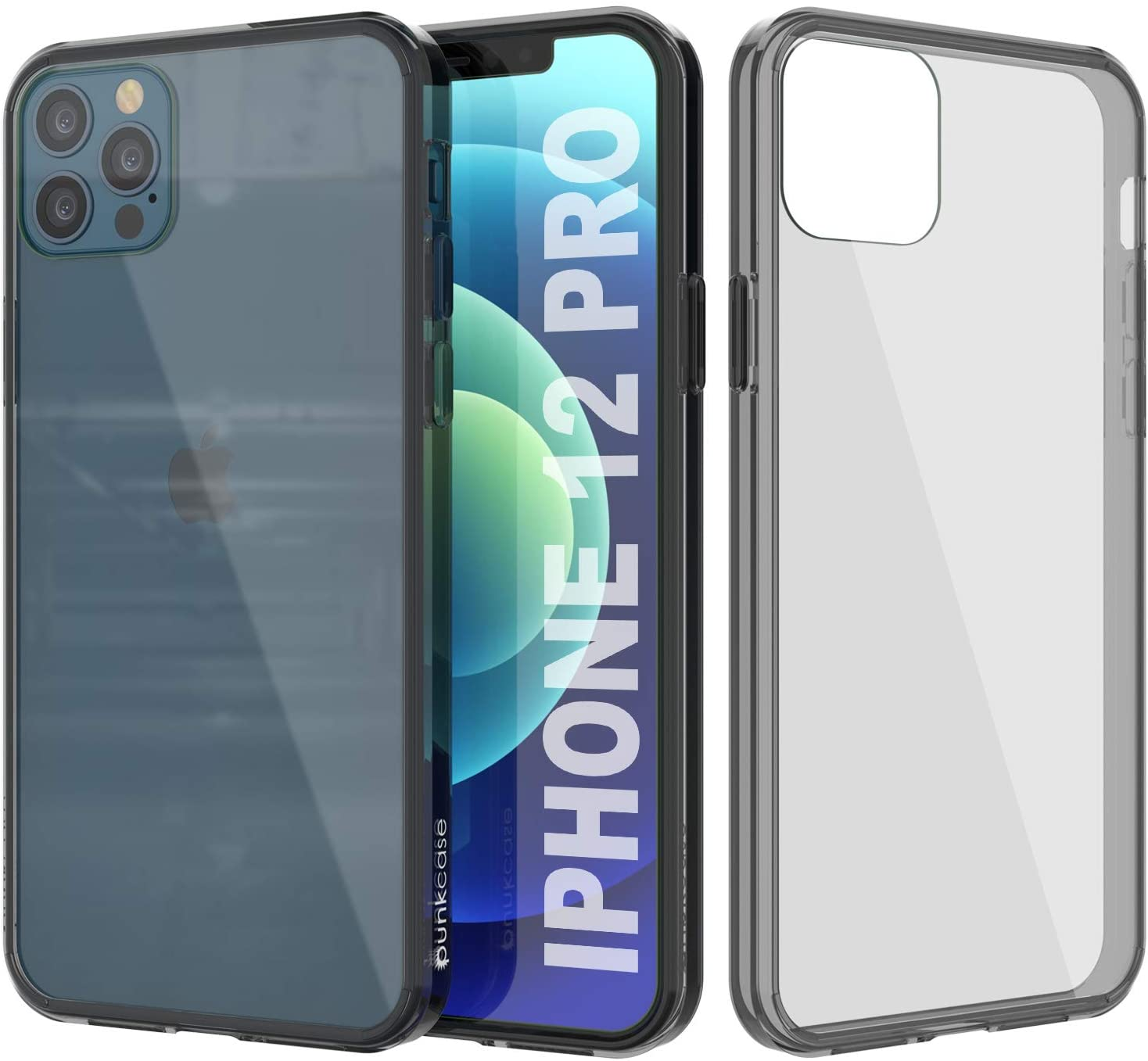 iPhone 12 Pro Case Punkcase® LUCID 2.0 Crystal Black Series w/ SHIELD Screen Protector | Ultra Fit