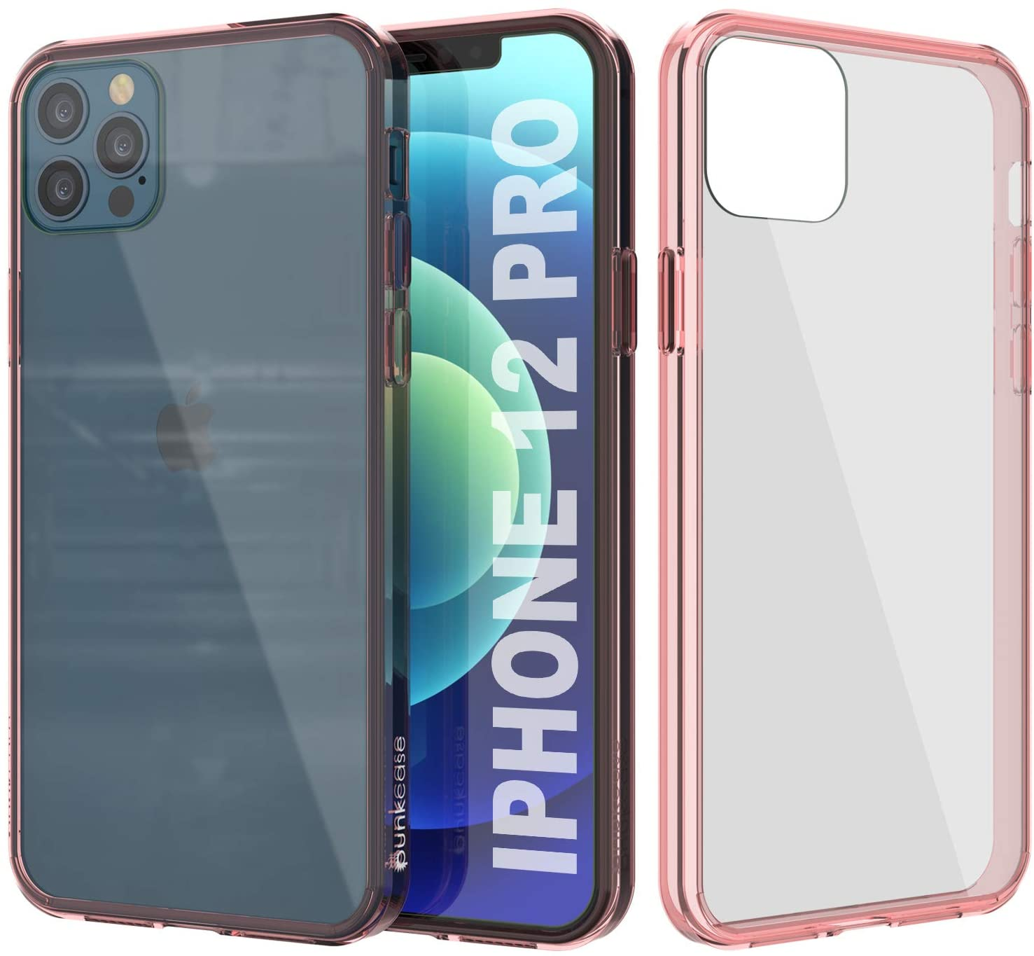 iPhone 12 Pro Case Punkcase® LUCID 2.0 Crystal Pink Series w/ SHIELD Screen Protector | Ultra Fit