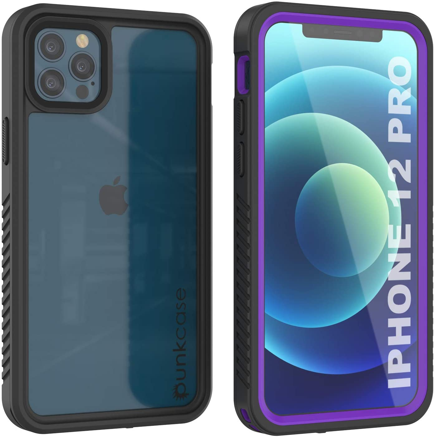 iPhone 12 Pro Waterproof Case, Punkcase [Extreme Series] Armor Cover W/ Built In Screen Protector [Purple]