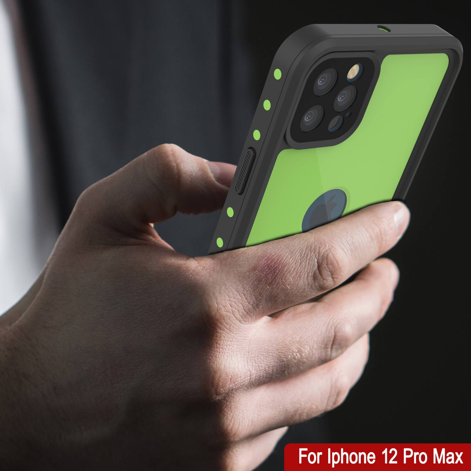 iPhone 12 Pro Max Waterproof IP68 Case, Punkcase [Light green] [StudStar Series] [Slim Fit] [Dirtproof]
