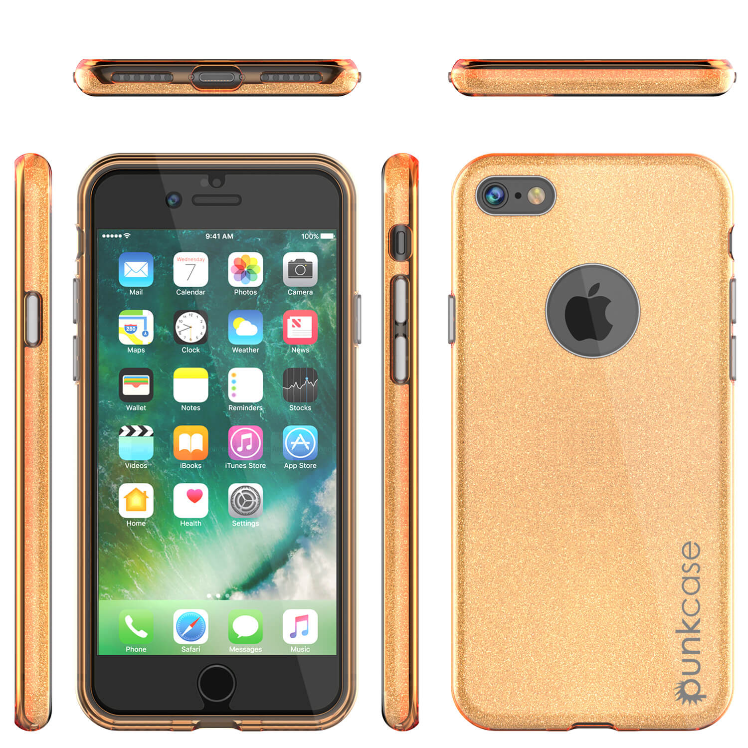 iPhone 6s/6 Case PunkCase Galactic Gold Series Slim w/ Tempered Glass | Lifetime Warranty