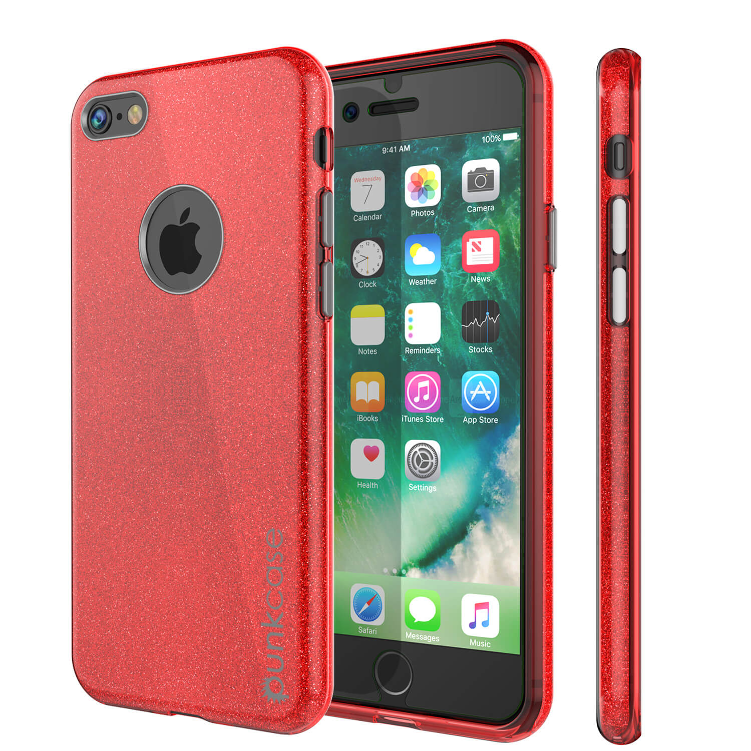 iPhone 6s/6 Case PunkCase Galactic Red Slim w/ Tempered Glass | Lifetime Warranty