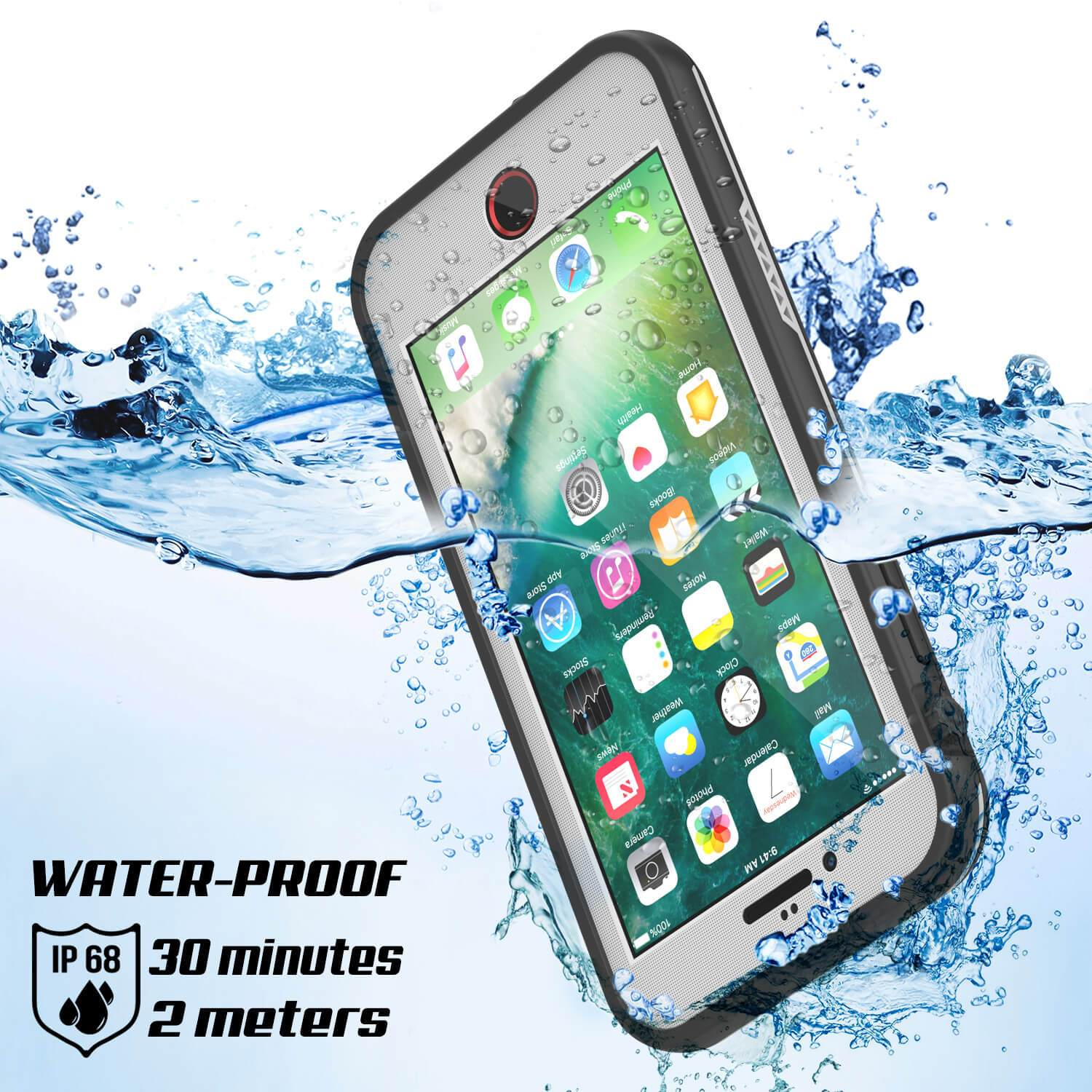 more photos ab349 2152b iPhone 8+ Plus Waterproof Case, Punkcase SpikeStar White Series ...