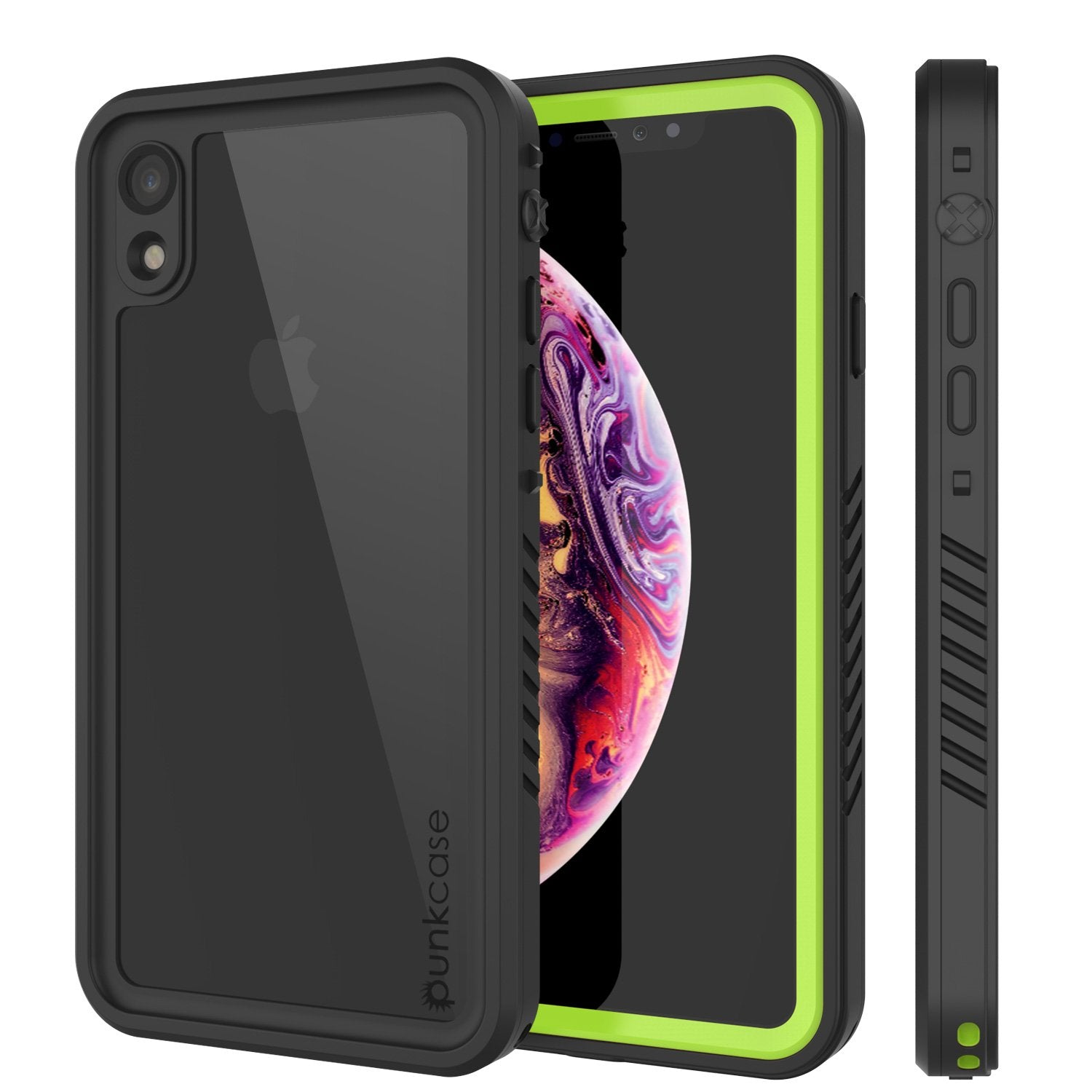 iPhone XR Waterproof Case, Punkcase [Extreme Series] Armor Cover W/ Built In Screen Protector [Light Green]