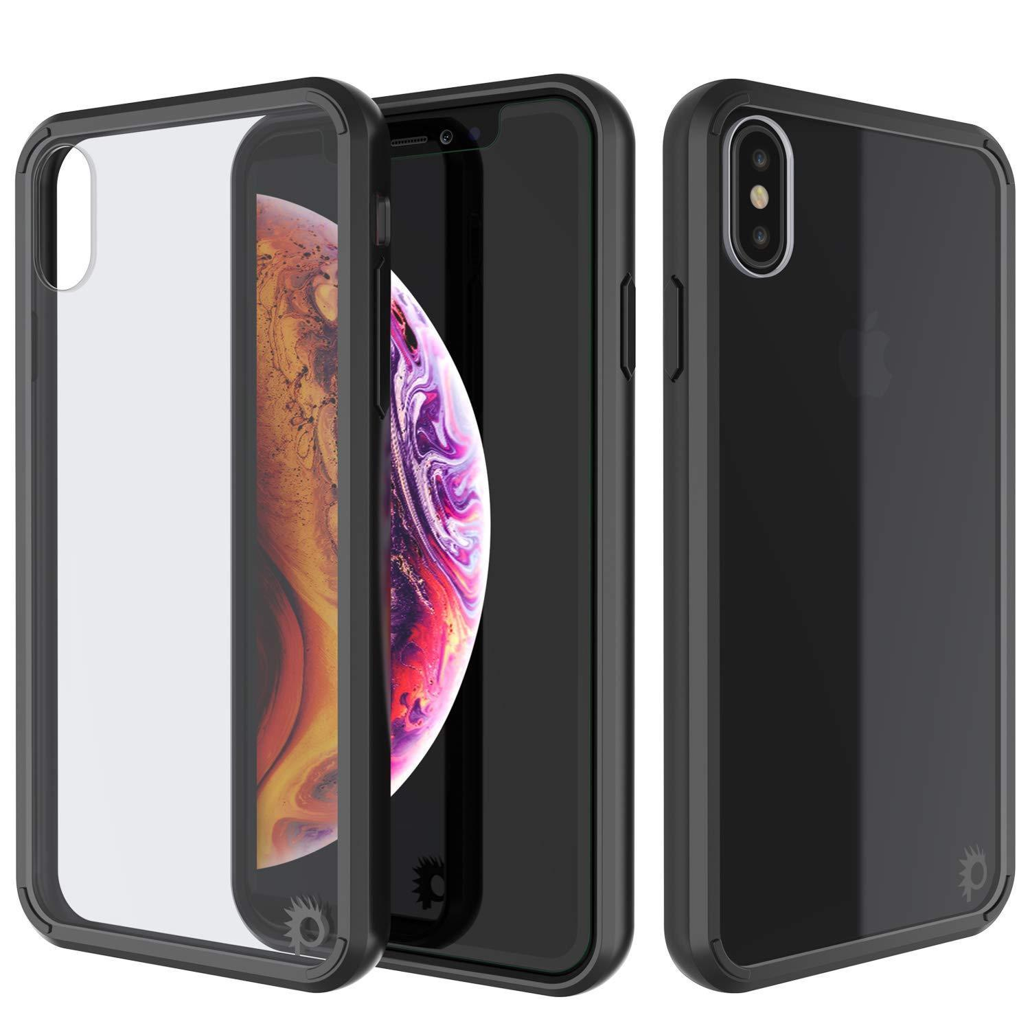 iPhone XS Case, PUNKcase [Lucid 2.0 Series] [Slim Fit] Armor Cover [Black]