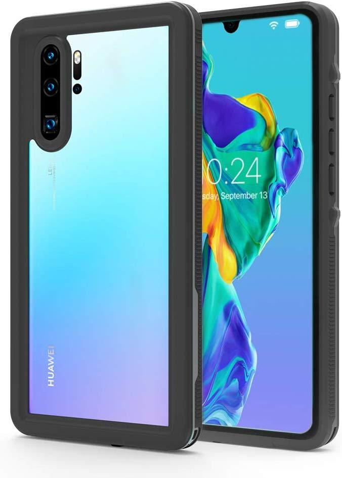 Huawei P30 Pro  Waterproof IP68 Case, Punkcase [Black] [StudStar Series] [Slim Fit] [Dirtproof]