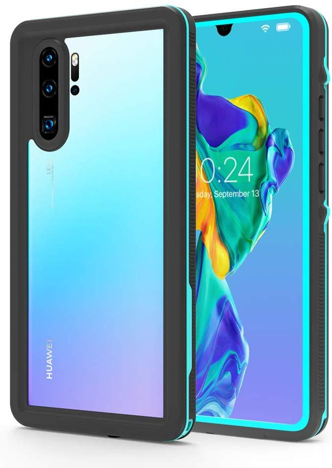 Huawei P30 Pro  Waterproof IP68 Case, Punkcase [Teal] [StudStar Series] [Slim Fit] [Dirtproof]