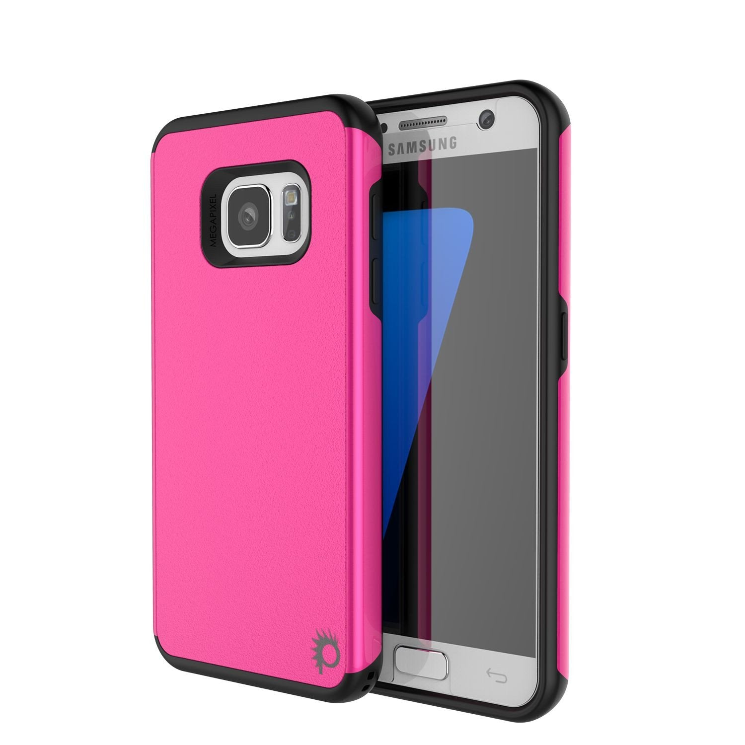 Galaxy s7 Case PunkCase Galactic Pink Series Slim Protective Armor Soft Cover Case w/ Tempered Glass