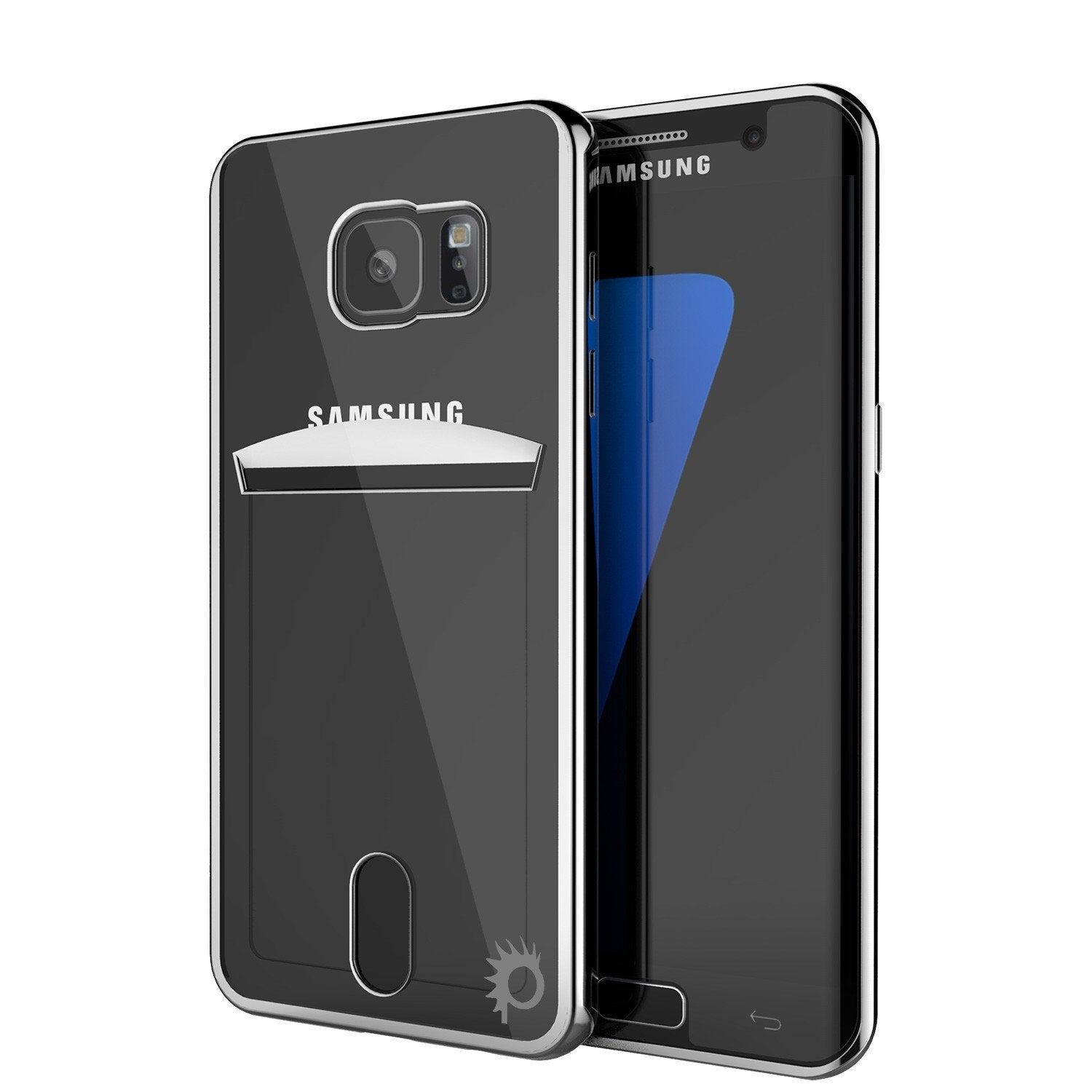 Galaxy S7 Case, PUNKCASE® LUCID Silver Series | Card Slot