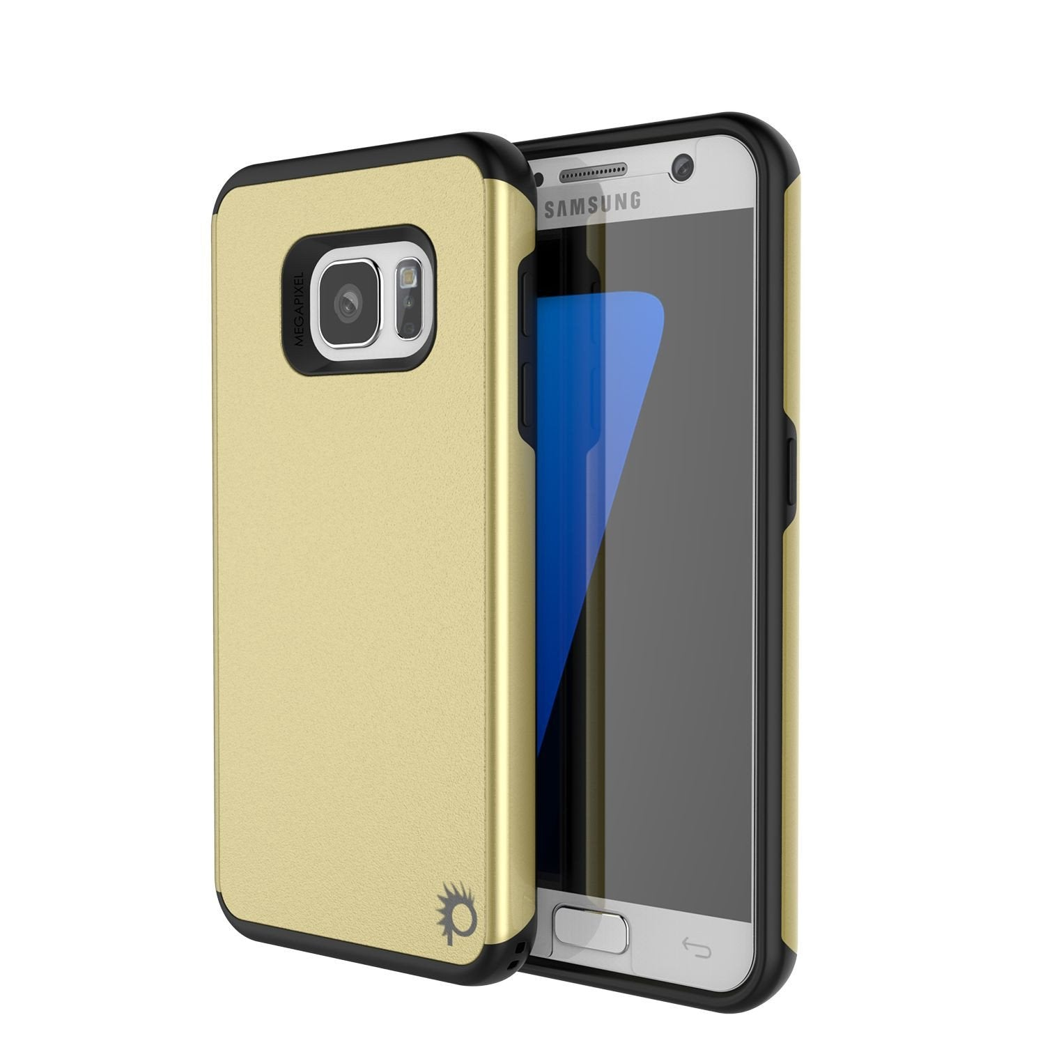 huge discount 5a782 a57dd Galaxy s7 Case PunkCase Galactic Gold Series Slim Armor Soft Cover Case w/  Tempered Glass