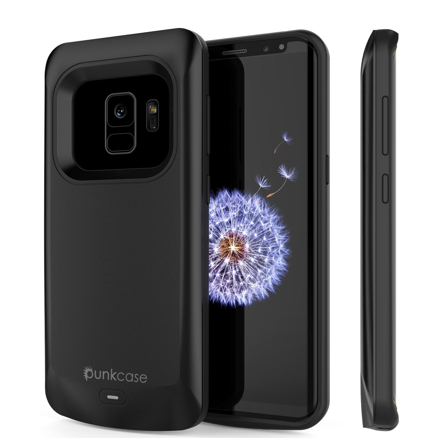 Galaxy S9 Case, PunkJuice 5000mAH Fast Charging Power Bank[Black]