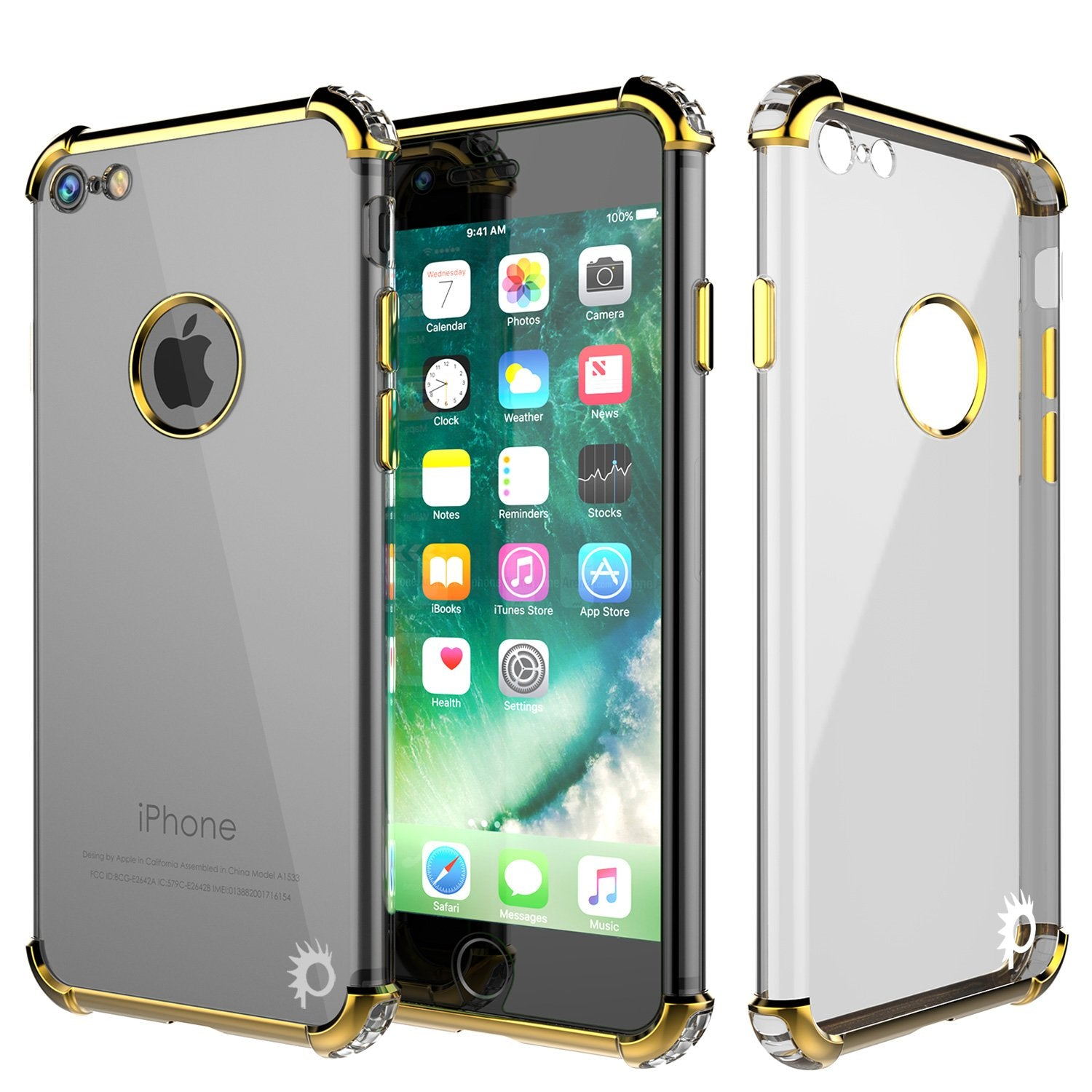 iPhone 8 Case, Punkcase [BLAZE SERIES] Protective Cover W/ PunkShield Screen Protector [Shockproof] [Slim Fit] for Apple iPhone [Gold]