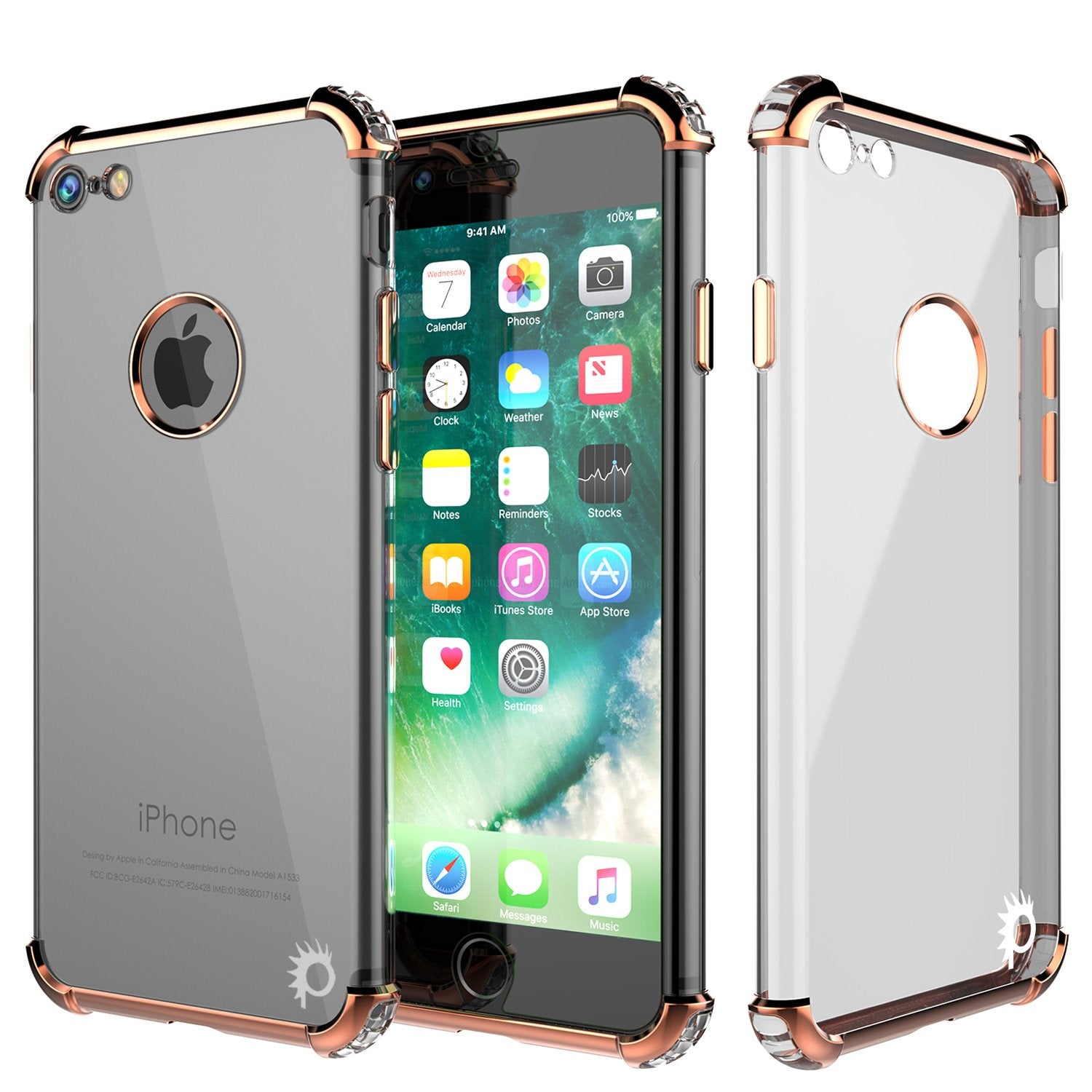 iPhone 8 Case, Punkcase [BLAZE SERIES] Protective Cover W/ PunkShield Screen Protector [Shockproof] [Slim Fit] for Apple iPhone [RoseGold]