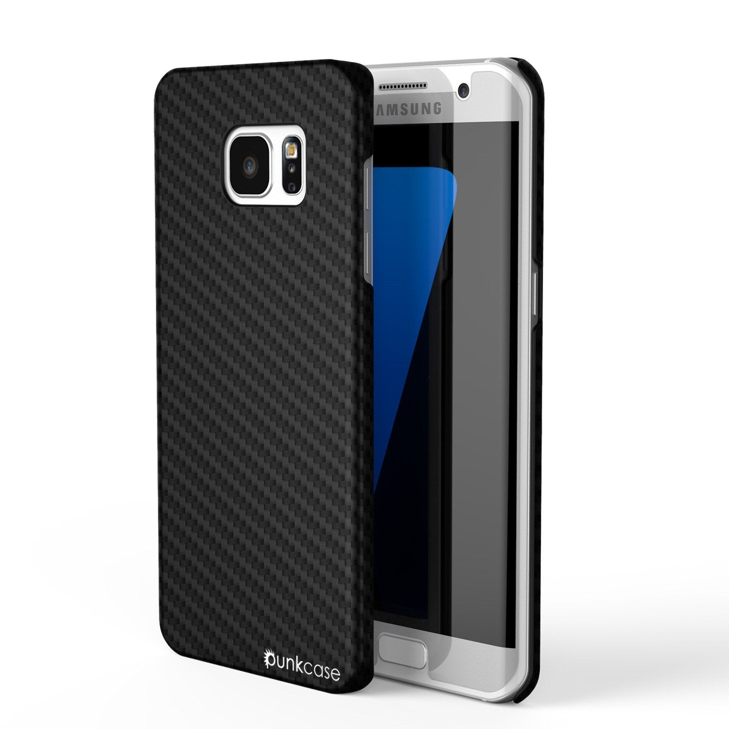 Galaxy S7 Edge Case, PunkCase CarbonShield, Jet Black