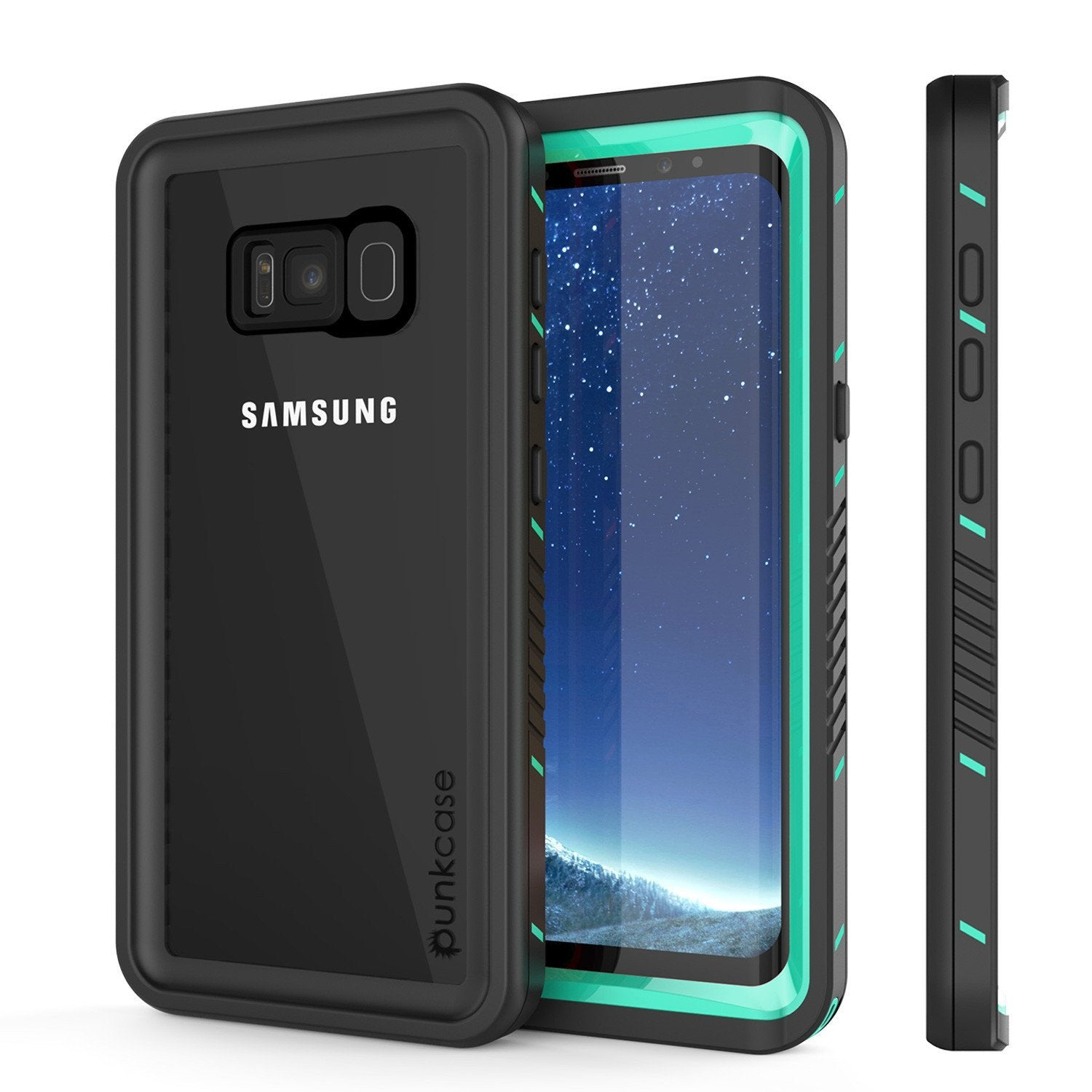 GGalaxy S8 Punkcase [Extreme Series] Slim Fit Armor Cover [Teal]