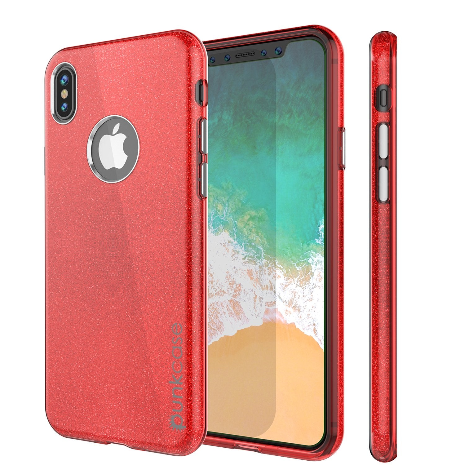 iPhone X Case, Punkcase Galactic 2.0 Series Ultra Slim Cover [Red]