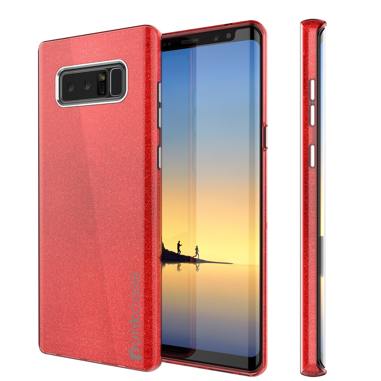 Galaxy Note 8 Case, Punkcase Galactic 2.0 Series Ultra Slim [Red]