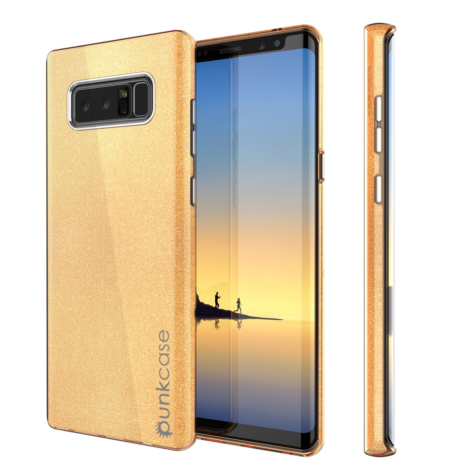 Galaxy Note 8 Case, Punkcase Galactic 2.0 Series Ultra Slim [Gold]