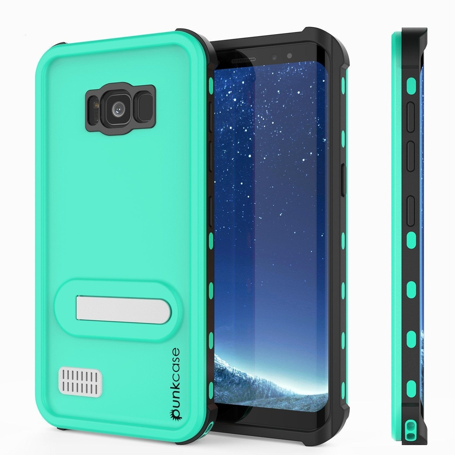 Galaxy S8 Plus PunkCase, [Kickstud Series] Slim Fit Cover [Teal]
