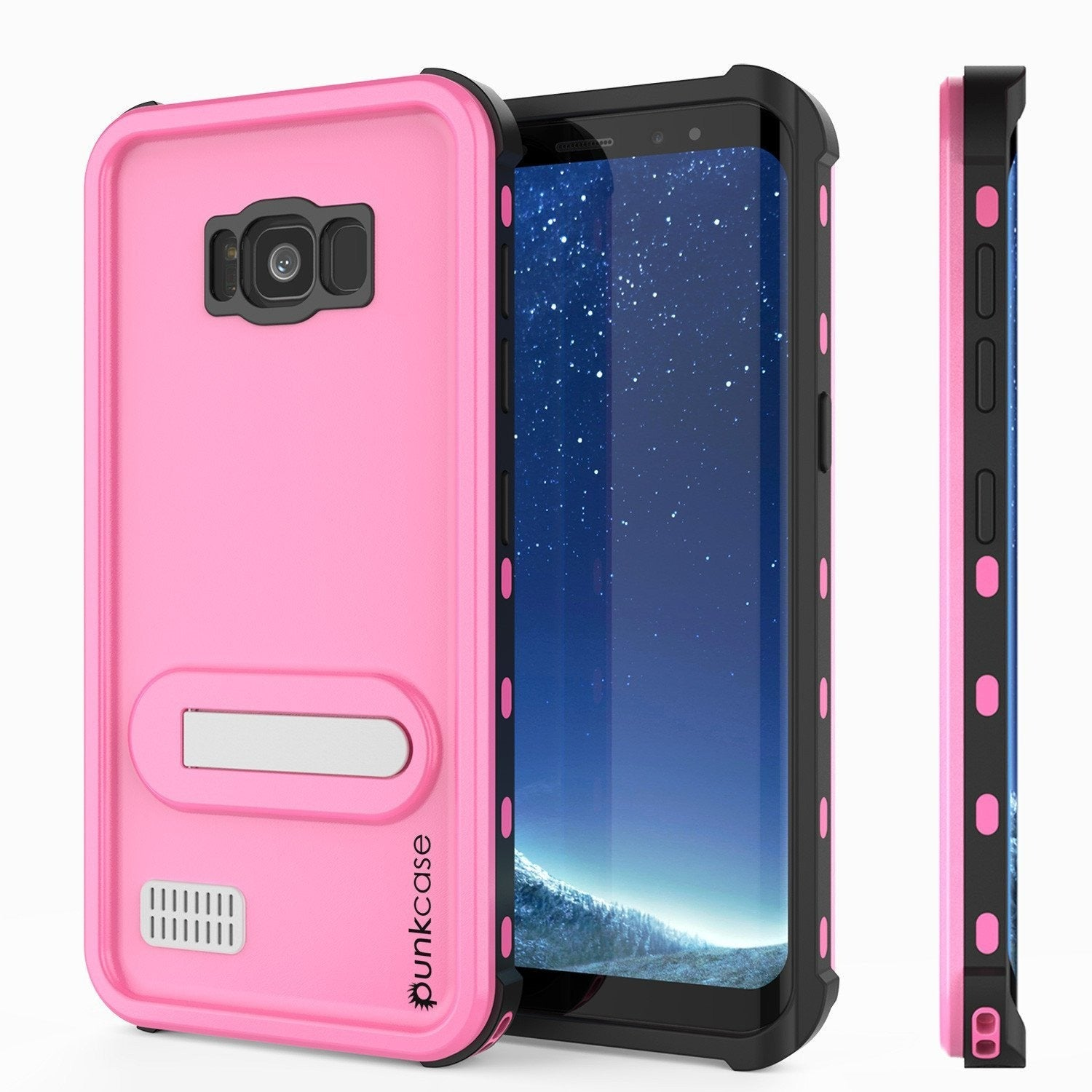 Galaxy S8 Plus PunkCase, [Kickstud Series] Slim Fit Cover [Pink]