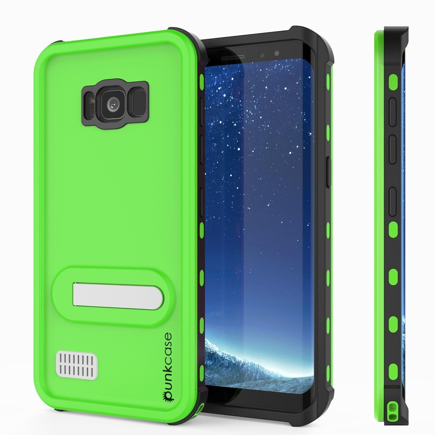 Galaxy S8 Plus PunkCase, [Kickstud Series] Slim Fit Cover, [Green]