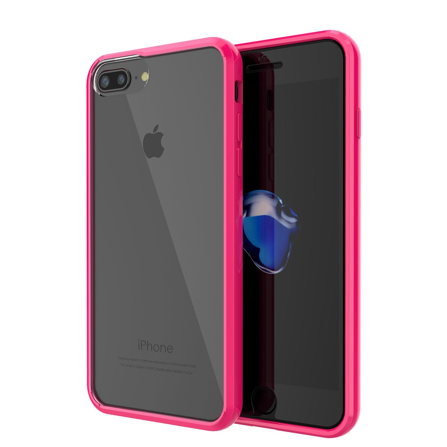 iPhone 7+ Plus Case Punkcase® LUCID 2.0 Pink Series for Apple iPhone 7+ Plus Slim | Slick Frame Lifetime Warranty Exchange