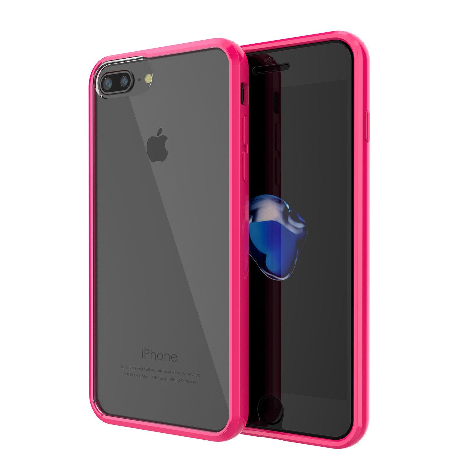 iPhone 7 Case Punkcase® LUCID 2.0 Pink Series for Apple iPhone 7 Slim | Slick Frame Lifetime Warranty Exchange
