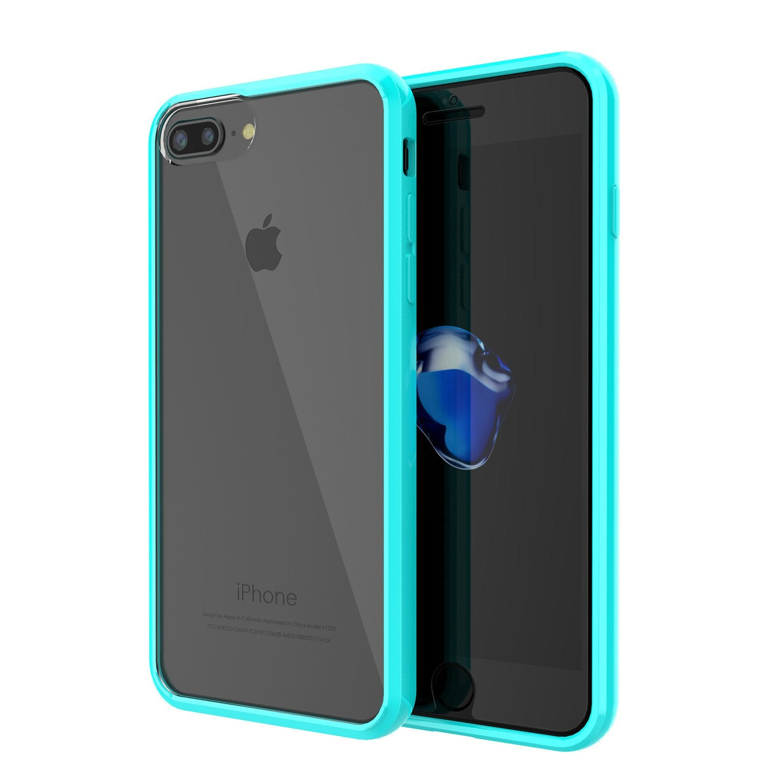 iPhone 7+ Plus Case Punkcase® LUCID 2.0 Light Blue Series for Apple iPhone 7+ Plus Slim | Slick Frame Lifetime Warranty Exchange