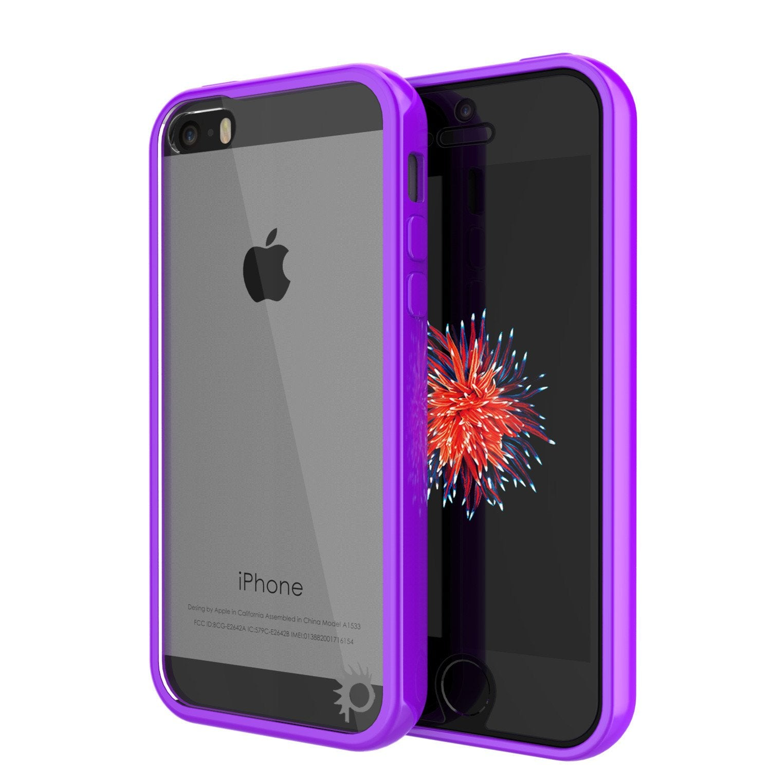 iPhone SE/5S/5 Case Punkcase® LUCID 2.0 Purple Series w/ PUNK SHIELD Screen Protector | Ultra Fit