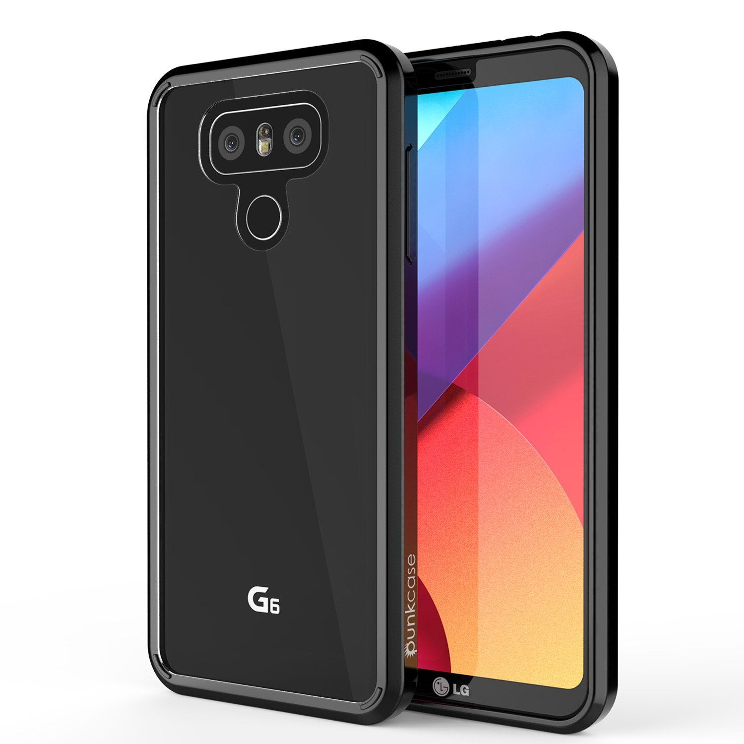 LG G6 Case Punkcase® LUCID 2.0 Black Series w/ PUNK SHIELD Screen Protector | Ultra Fit