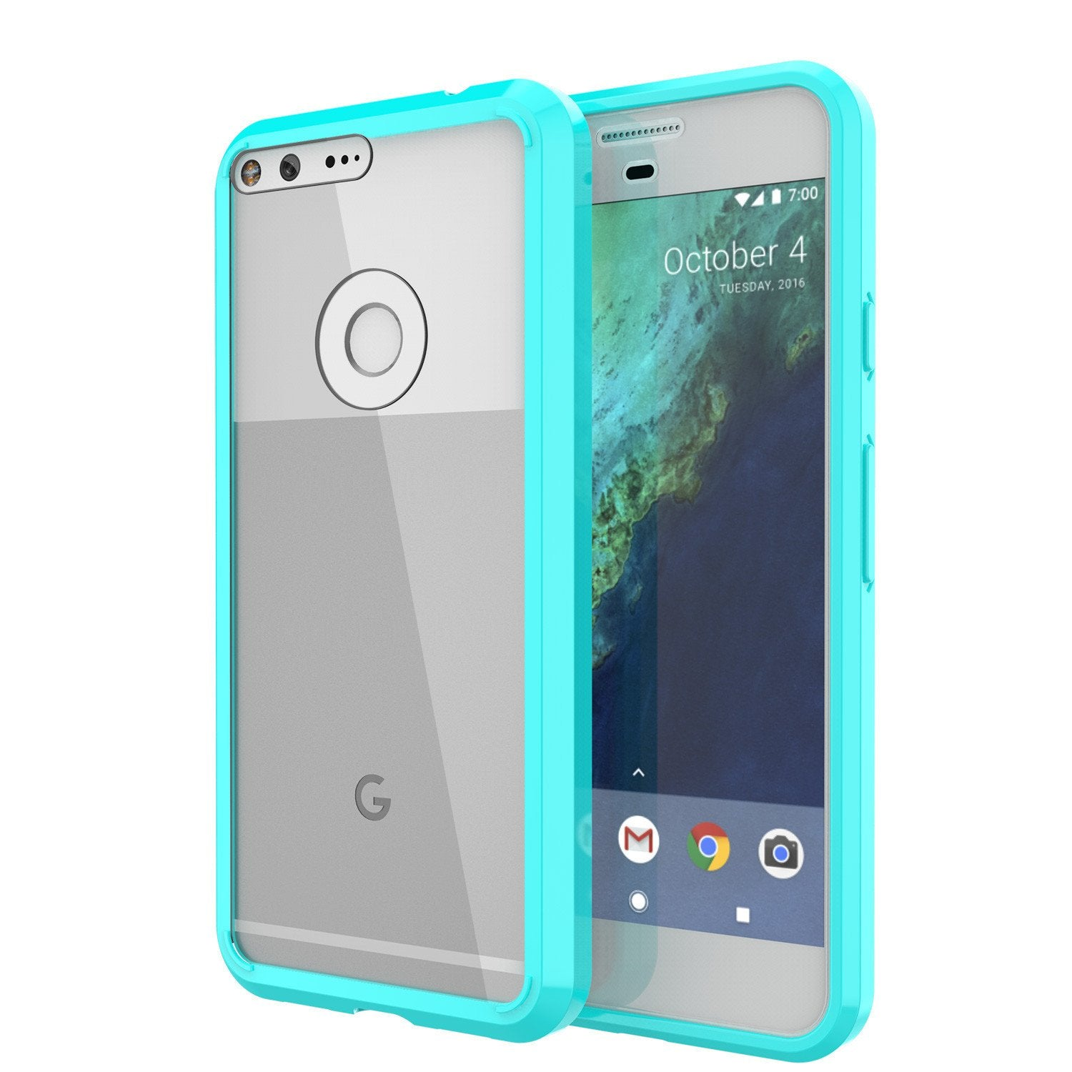 Google Pixel XL Case Punkcase® LUCID 2.0 Teal Series w/ PUNK SHIELD Glass Screen Protector | Ultra Fit