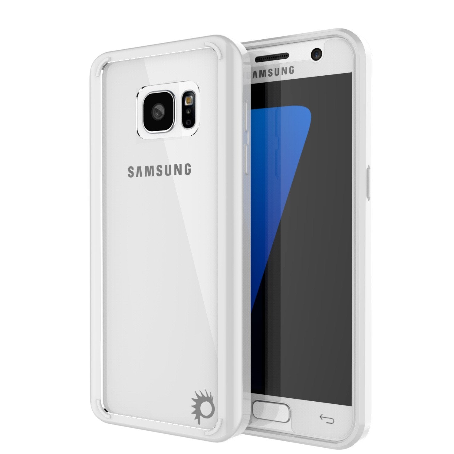 S7 Case Punkcase® LUCID 2.0 White Series w/ PUNK SHIELD Glass Screen Protector | Ultra Fit