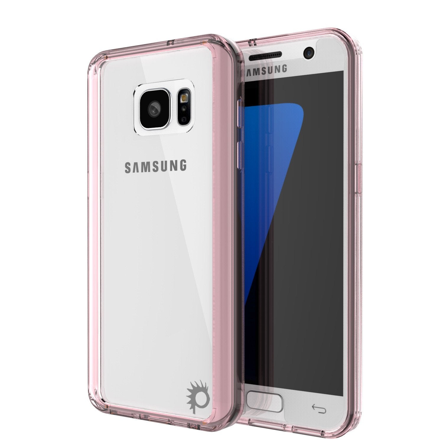 S7 Case Punkcase® LUCID 2.0 Crystal Pink Series w/ PUNK SHIELD Glass Screen Protector | Ultra Fit