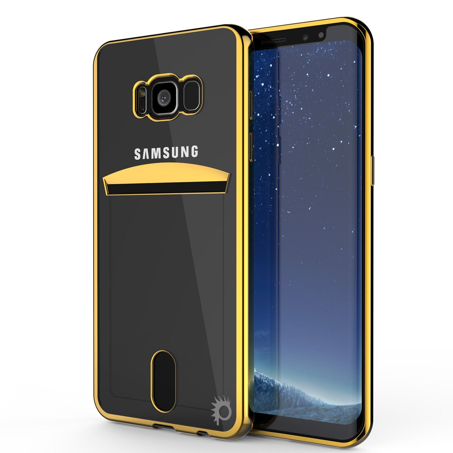 Galaxy S8 Case, PUNKCASE LUCID Gold Series Armor Case Cover Ultra Fit