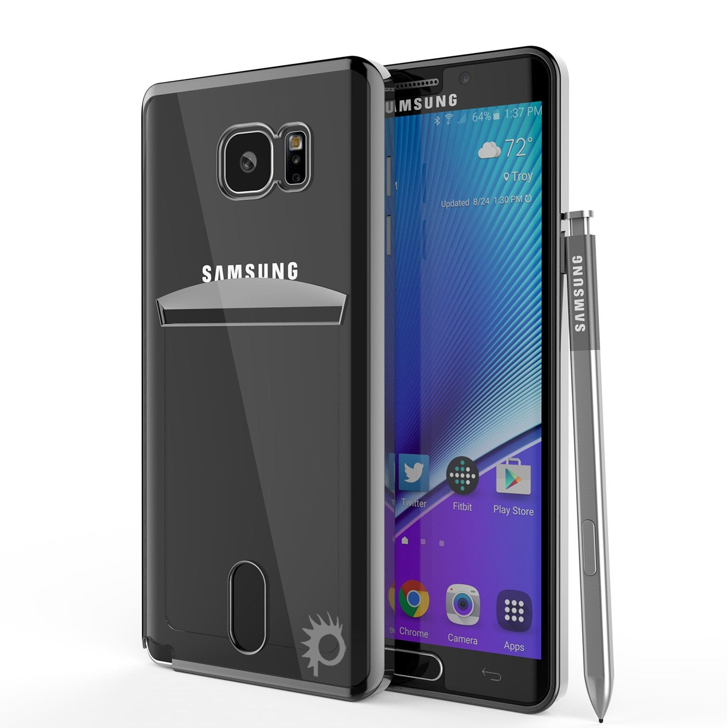 Galaxy Note 5 Case, Punkcase® Lucid Black Series Screen Protector