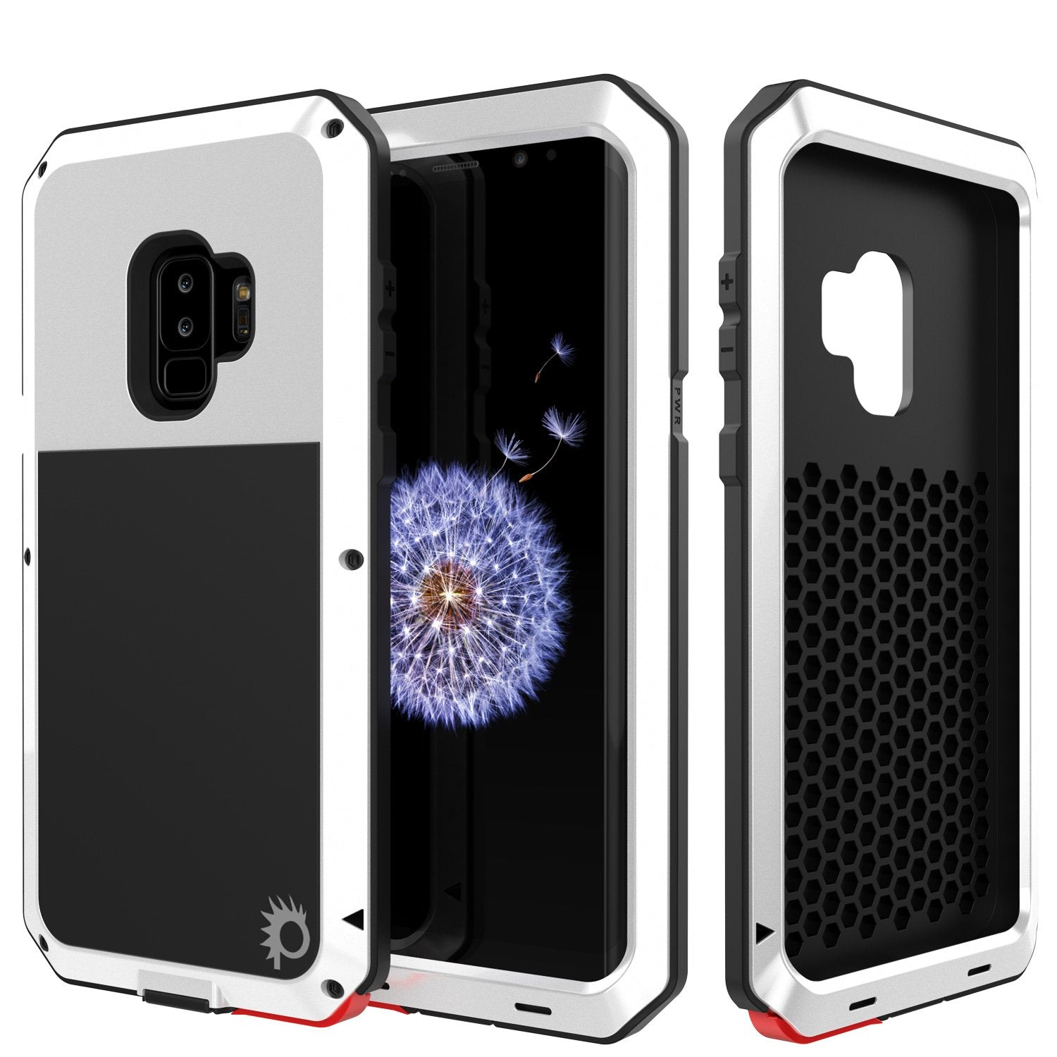 Galaxy S9 Plus Metal PunkCase Heavy Duty Military Grade Rugged, White