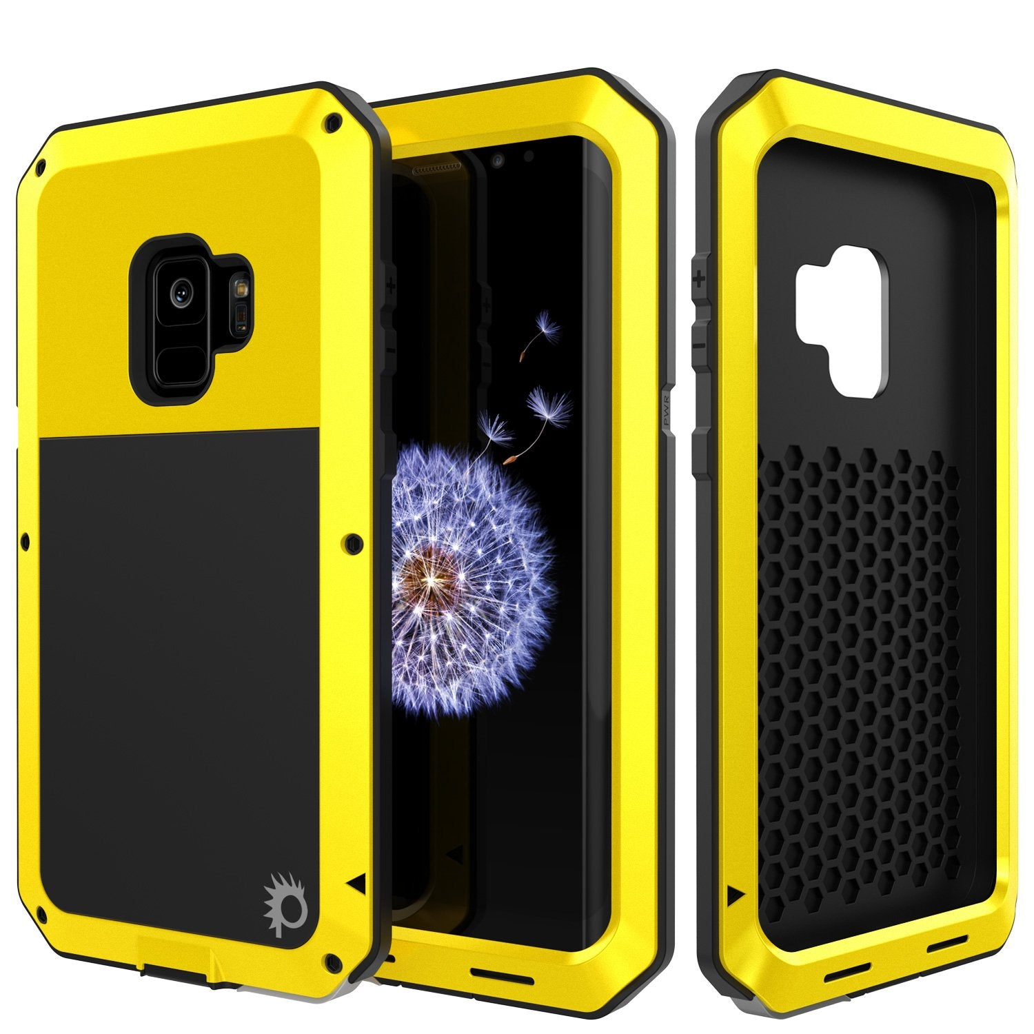 Galaxy S9 Metal Case, Heavy Duty Military Grade Rugged case [Neon]