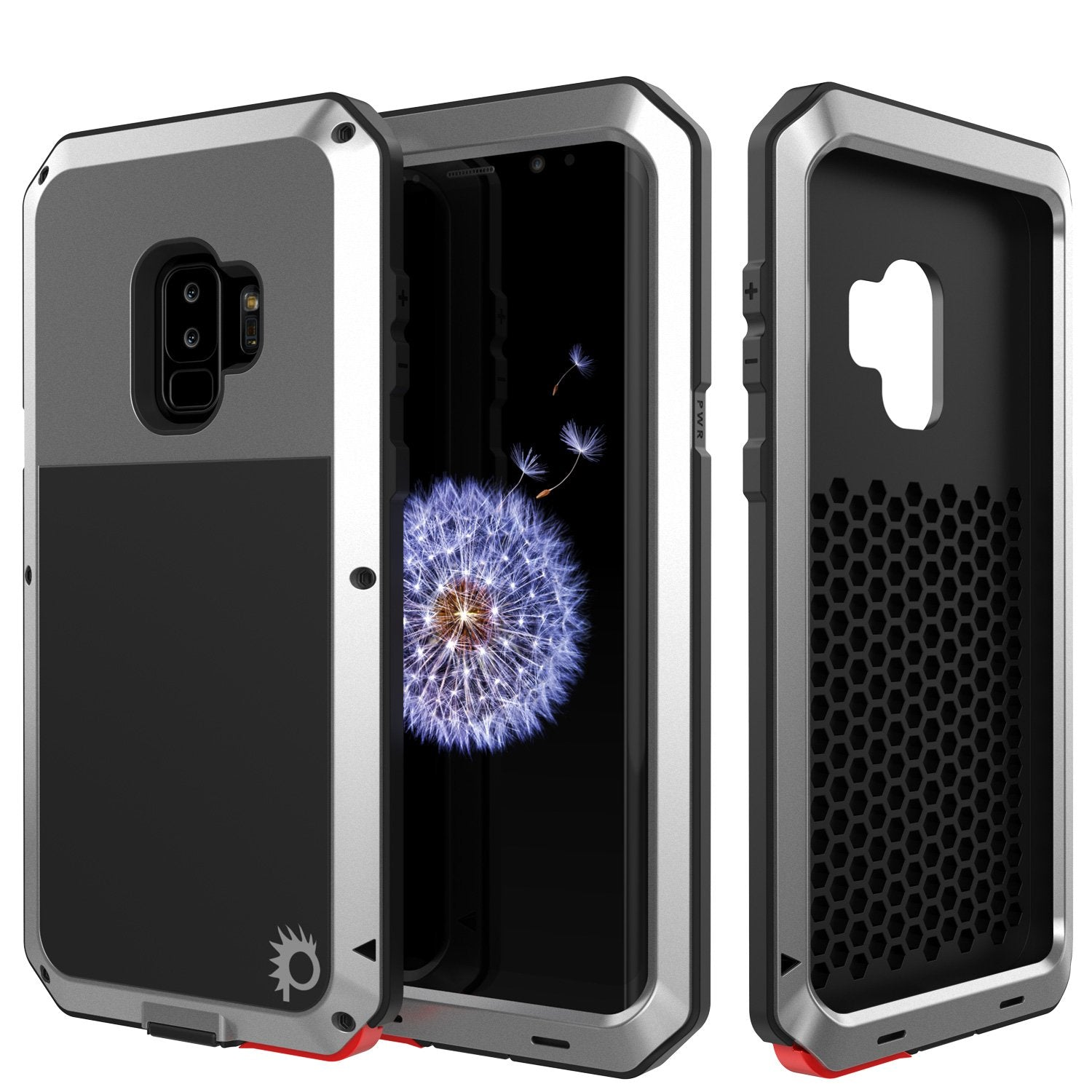 Galaxy S9 Plus Metal PunkCase Heavy Duty Military Grade Rugged Silver