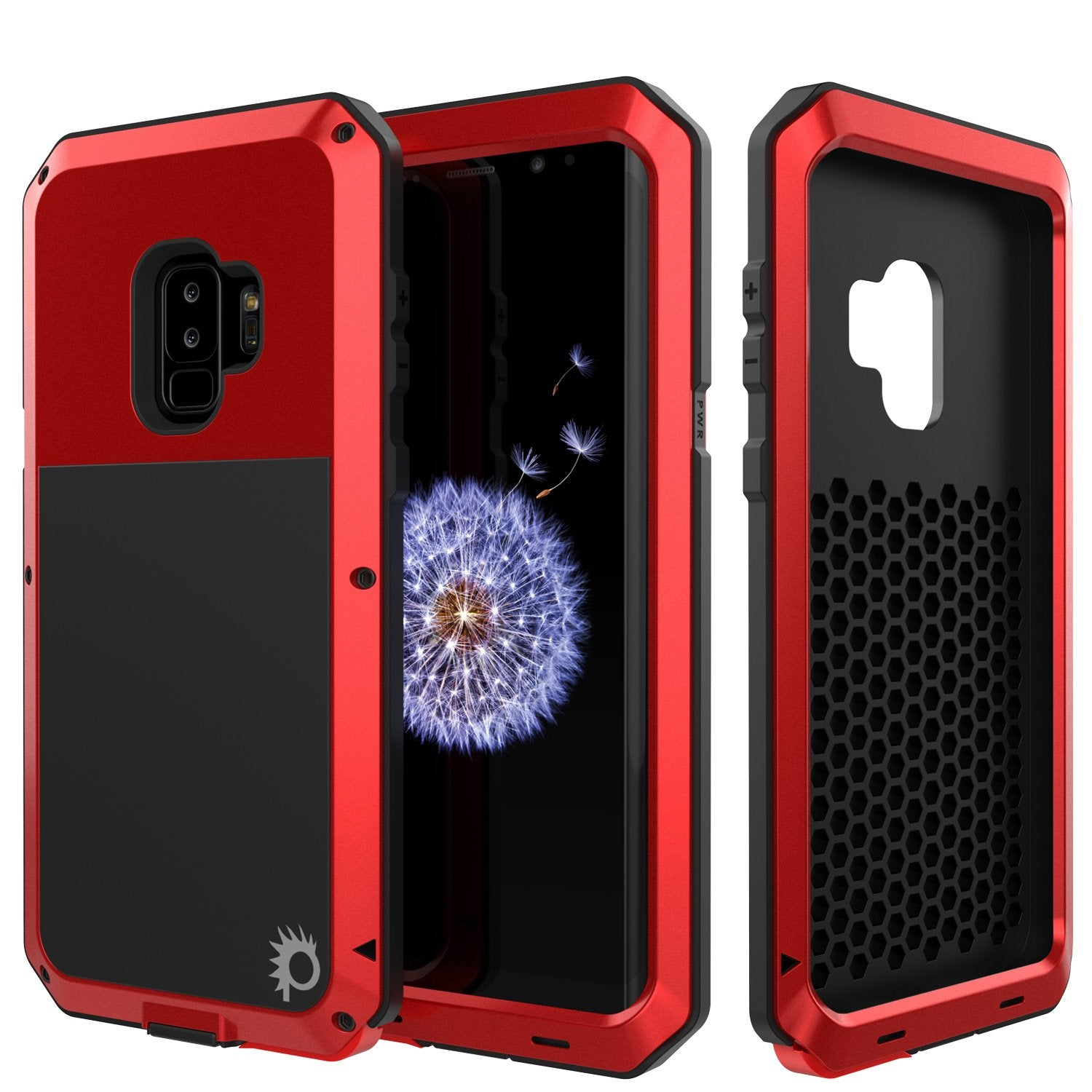 Galaxy S9 Plus Metal Case, Heavy Duty Military Grade Rugged Case, Red