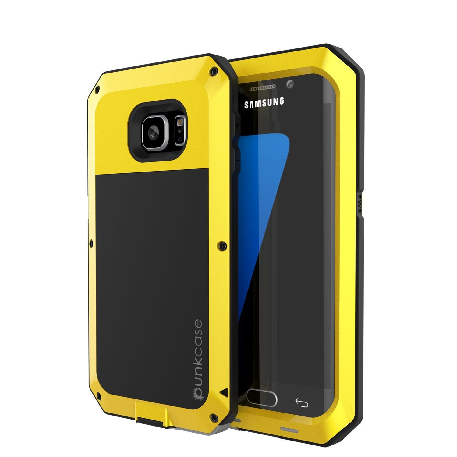 Galaxy S7 EDGE  Case, PUNKcase Metallic Neon Shockproof  Slim Metal Armor Case