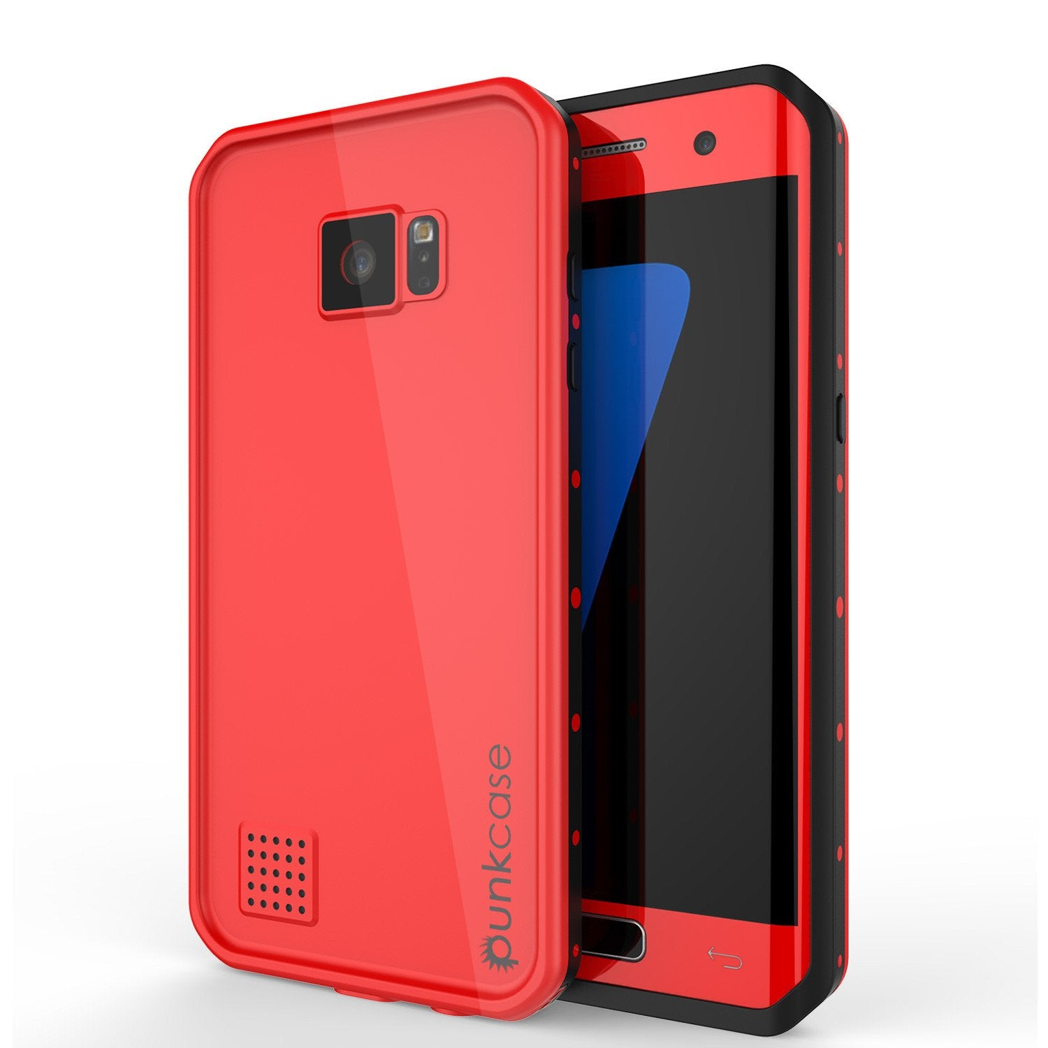 half off 0fa21 8320f Galaxy S7 EDGE Waterproof Case PunkCase StudStar Red Thin 6.6ft Underwater  IP68 Shock/Snow Proof