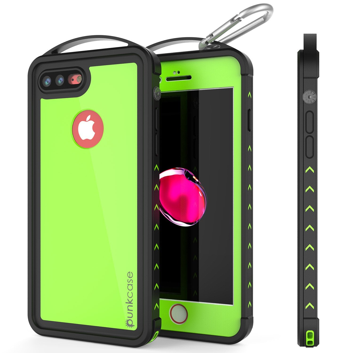 iPhone 7+ Plus Waterproof Case, Punkcase ALPINE Series, Light Green | Heavy Duty Armor Cover