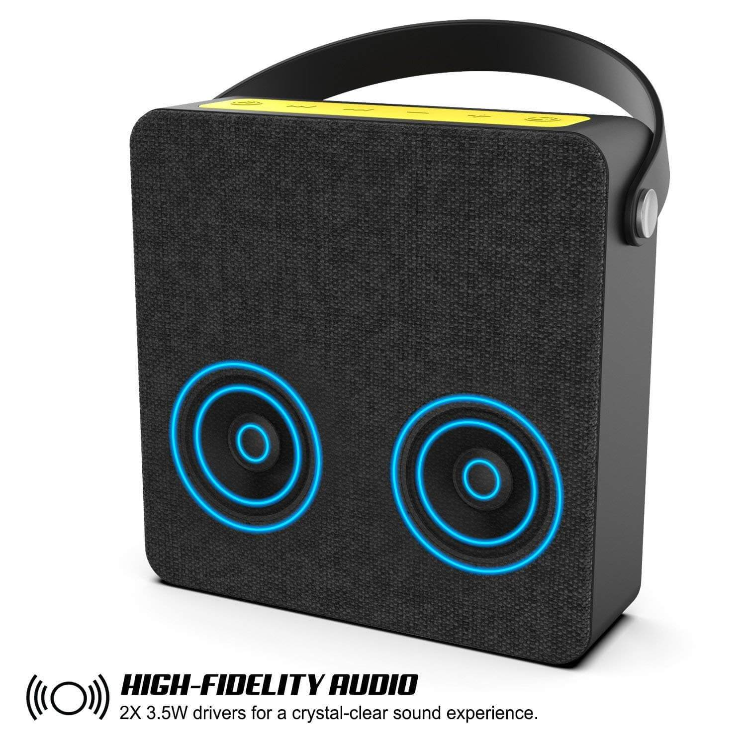 PUNKBOX Portable Wireless Bluetooth Speaker, Loud & Powerful for iPhoneAndroid [black]